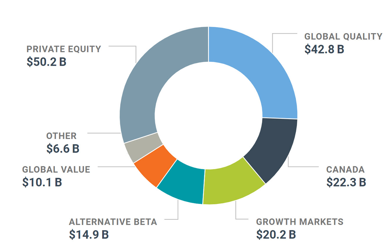 Graph of our net assets in the Equity portfolio as at December 31, 2019.