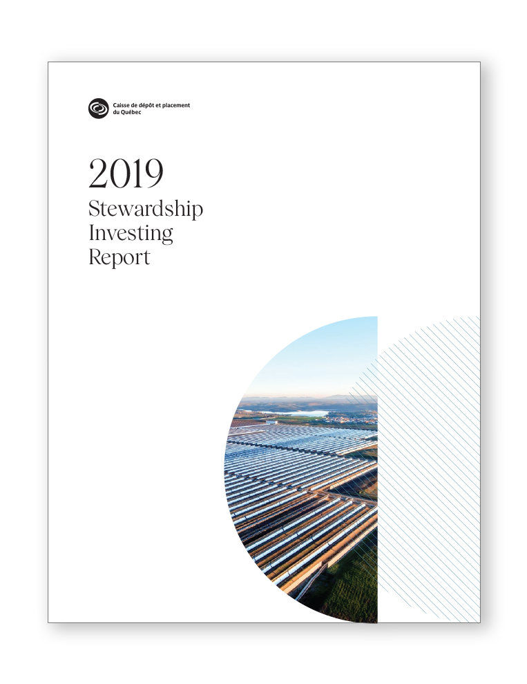 Page cover of our 2019 Sustainable Investment Report.